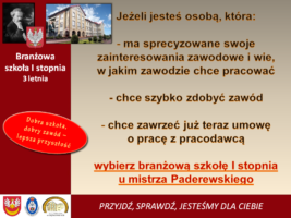 Branżowa szkoła I stopnia
