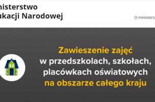 Zarządzenie nr 13/2020 z dnia 11 marca 2020 r. Dyrektora Zespołu Szkół Ogólnokształcących i Zawodowych im. Ignacego Jana Paderewskiego w Ciężkowicach w sprawie przeciwdziałania rozprzestrzenianiu się wirusa SARS–COV-2 wśród uczniów oraz pracowników oświaty